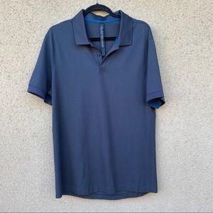 Lululemon Tech Pique Polo Blue shirt size large blue gray